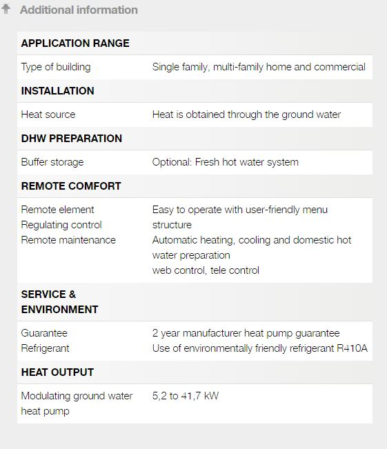 4. Ground water heat pump info
